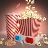 Préparez pour le cinéma illustration libre de droits