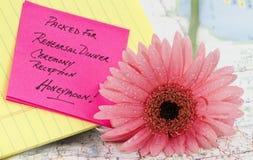 Préparez pour le mariage et la lune de miel Photographie stock libre de droits