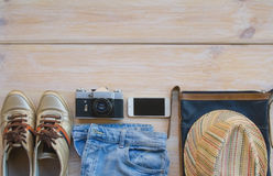 Préparez pour prendre un concept de voyage Photographie stock