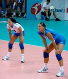 Préparez pour recevoir, équipe italienne de volleyball Photos libres de droits