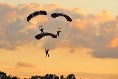 Préparez-vous à l'atterrissage ! Photo libre de droits