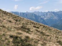 Prés de montagne Images libres de droits