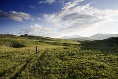Prés de montagne de vélo Photo libre de droits