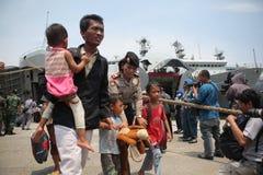 présence illégale et lui idéologies déviantes en Indonésie images libres de droits