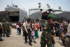 présence illégale et lui idéologies déviantes en Indonésie Photo stock