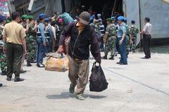 présence illégale et lui idéologies déviantes en Indonésie Photographie stock