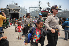 présence illégale et lui idéologies déviantes en Indonésie Images stock
