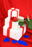 Fond d'art de Saint-Valentin Images libres de droits