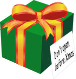 Présent de Noël Photos libres de droits