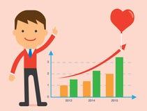 Présent de salutation de stratégie de CardLove de forme rose de coeur Image libre de droits
