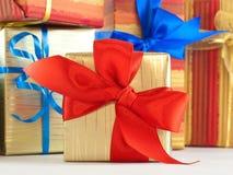 Présent enveloppé par cadeau image libre de droits