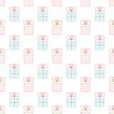 Présent ou boîte-cadeau Vecteur d'ensemble Couleurs lumineuses Concept de célébration Configuration sans joint illustration libre de droits