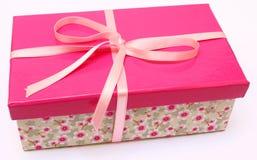 Présent rose Photographie stock