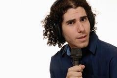 Présentateur par radio/DJ Images libres de droits