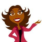 Présentation 2 de femme d'affaires illustration de vecteur