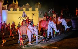 Présentation 2012 de lumière et de son d'Ayutthaya Photo libre de droits
