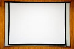 Présentation blanche de scène Photographie stock