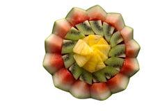Présentation décorative de fruit frais Images stock