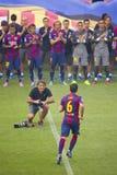 Présentation d'équipe de FCB Photo libre de droits