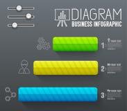 présentation d'affaires de diagramme de diagramme 3d Concept de construction réaliste d'illustration de vecteur Placez des symbol illustration libre de droits