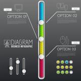 présentation d'affaires de diagramme de diagramme 3d Concept de construction réaliste d'illustration de vecteur Placez des symbol illustration de vecteur