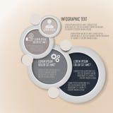 Présentation d'affaires sur la conception de cercle Image libre de droits