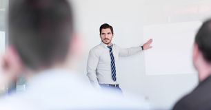 Présentation d'affaires sur la réunion de la société photo stock