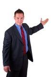 Présentation d'homme d'affaires images stock