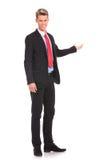 Présentation d'homme d'affaires Image stock