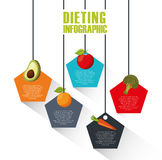 Présentation d'Infographic de nourriture saine pour suivre un régime Images stock