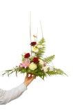 Présentation d'un bouquet image libre de droits