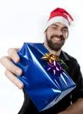 Présentation d'un cadeau photographie stock