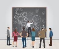 Présentation d'un nouveau projet d'affaires, concepts, idées, stratégies illustration stock
