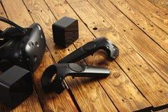 Présentation de contrôleur et en verre de VR Photo stock