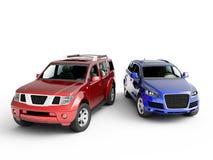 Présentation de deux véhicules Photos libres de droits