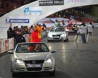 Présentation de driverâs d'enjeu de ROC Pékin Image stock