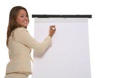 Présentation de femme d'affaires images stock