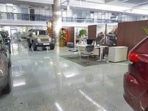 Présentation de jeep de salle d'exposition de voiture d'automobile de concept de transport de l'Ukraine Kiev le 21 janvier 2018 Image stock