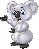 Présentation de koala de bande dessinée d'isolement sur le fond blanc illustration stock