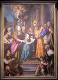 Présentation de Mary dans le temple photos stock
