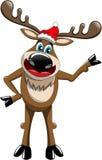 Présentation de Noël de renne d'isolement Image stock