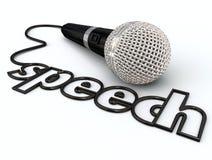 Présentation de prise de parole en public de corde de microphone de Word de la parole illustration libre de droits
