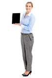 Présentation de tablette photographie stock libre de droits