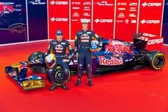 Présentation de Toro Rosso STR7, 2012 photographie stock libre de droits