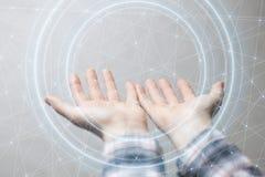 Présentation des technologies du sans fil dans les affaires et les finances Photo libre de droits