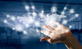 Présentation des technologies du sans fil Media mélangé illustration stock