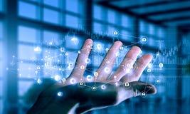 Présentation des technologies du sans fil Media mélangé Media mélangé illustration de vecteur