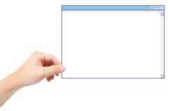 Présentation du logiciel photos stock