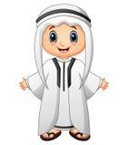 Présentation heureuse d'enfant de musulmans illustration stock