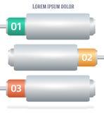 Présentation horizontale de Web de bannière de batterie Photographie stock